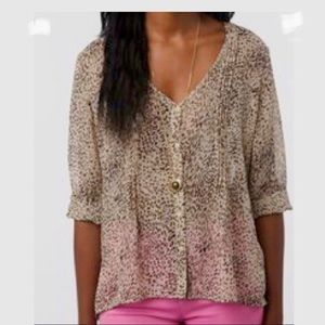 Pins & Needles Chiffon Animal Print Blouse